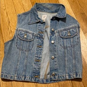 VINTAGE GAP SLEEVELESS JEAN JACKET